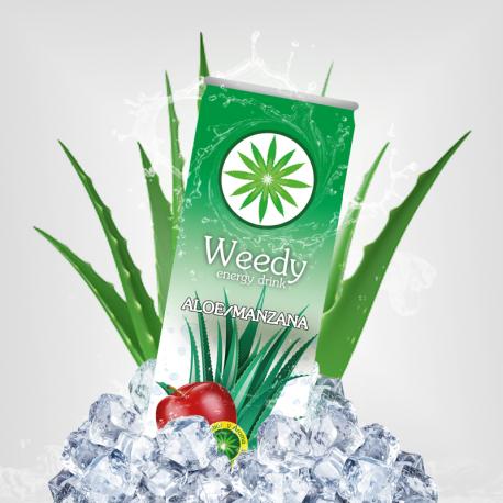 Pack 24 Unidades Weedy Aloe/Manzana